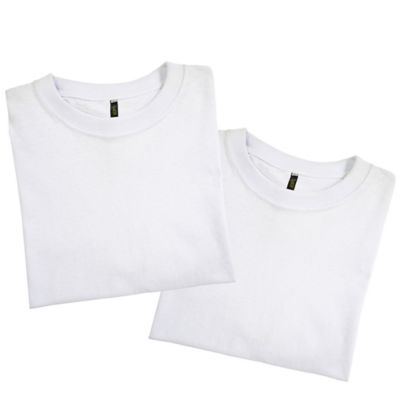 Set x2 Camisetas para Hombre Tshirt 100% Algodón S Blanco