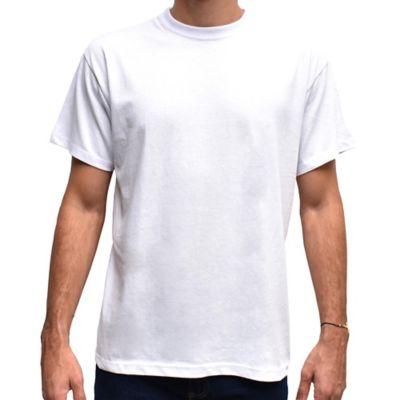 Camiseta para Hombre Tshirt 100% Algodón XL Blanco