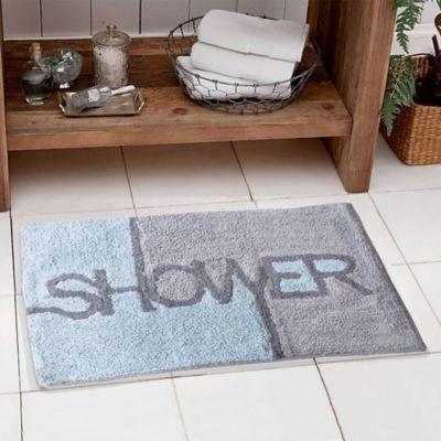 Tapete Baño Algodon Shower Gris 40x60 cm