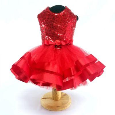 Vestido Lili para Perro Talla S Rojo