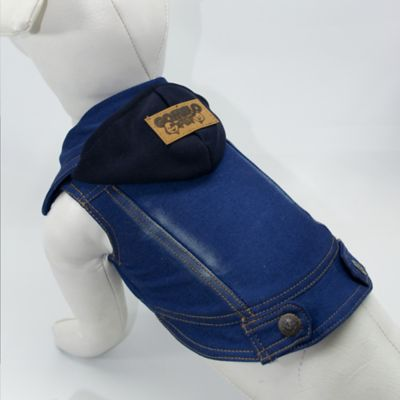 Chaleco de Jean para Perro Talla XS Azul
