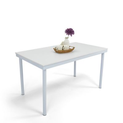 Mesa para Comedor 6 Puestos Loft Blanco