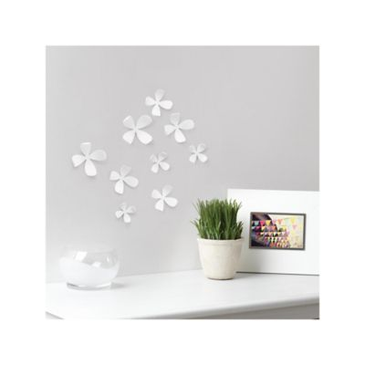Aplique Pared Flor Blanco
