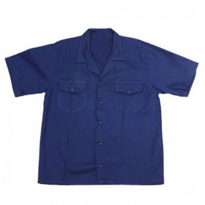 Camisa Industrial Hombre Dril Manga Corta L Azul