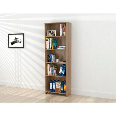 Biblioteca Rayo sin Puertas 182x60x25cm Amaretto