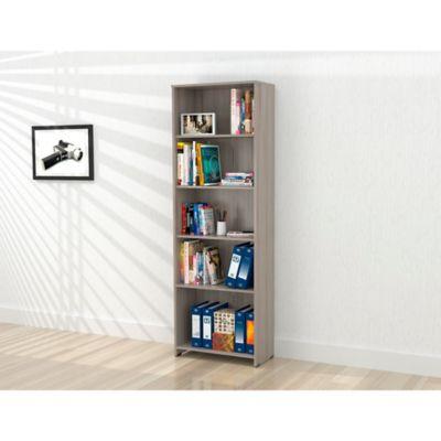Biblioteca Rayo sin Puertas 182x60x25cm Ceniza