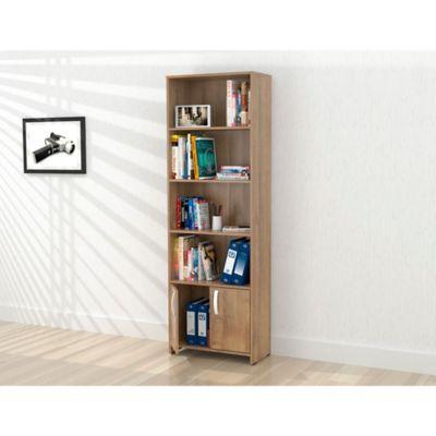 Biblioteca Dali 2 Puertas 182x60x25cm Amaretto