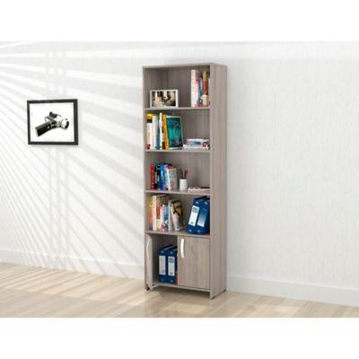 Biblioteca Dali 2 Puertas 182x60x25cm Ceniza