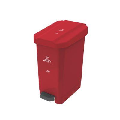 Caneca Estrabins Pedal 10Lt Riesgo Biológico Rojo