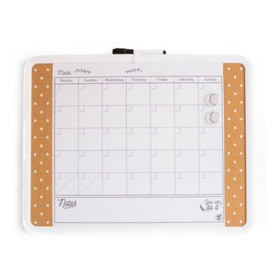 Tablero Calendario Borrable Blanco Corcho