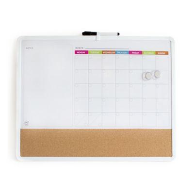 Tablero Calendario Borrable Blanco 3 en 1
