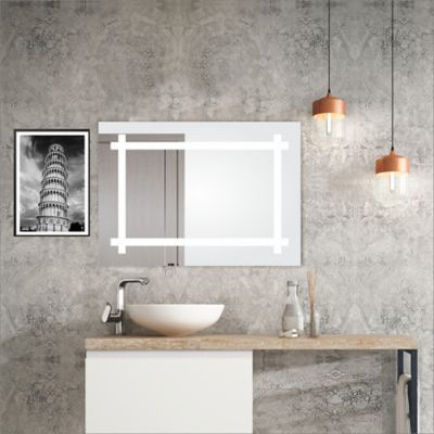 Espejo con Marco Interno Sandblasting 90x60x3.4cm