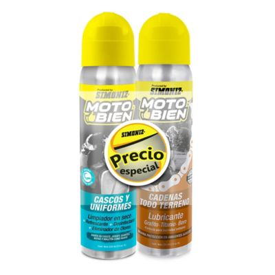 Lubricante Cadenas + Limpiador Cascos Moto Bien