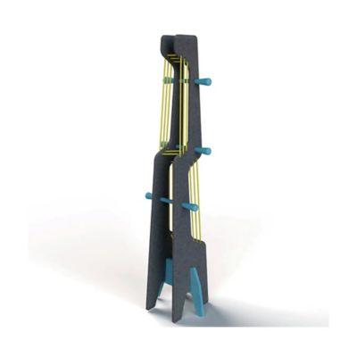 Perchero Boomerang 33x28x135 Negro/Azul