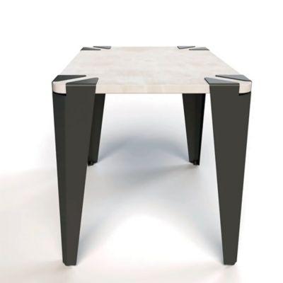 Mesa Rectangular Silon 40x42x60 Cemento/Negro