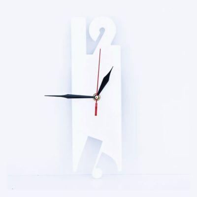 Reloj de Lámina 9x30x3 cm Blanco