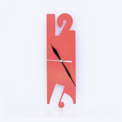 Reloj de Lámina 9x30x3 cm Naranja