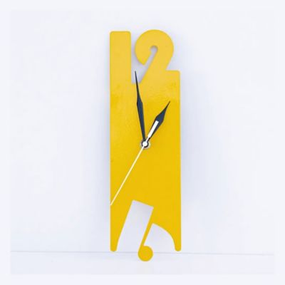 Reloj de Lámina 9x30x3 cm Amarilla