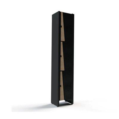 Locker Bajo 35x30x180 Roble/Negro