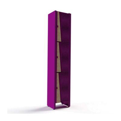 Locker Bajo 35x30x180 Roble/Violeta