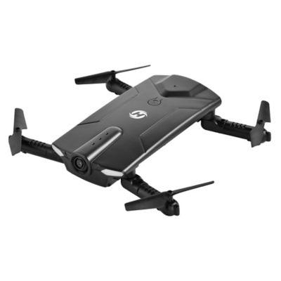 Mini Dron Plegable Wifi HS160 Negro