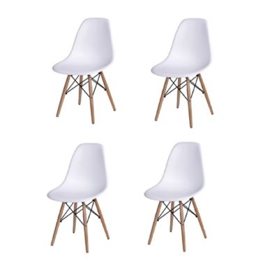 Combo x4 Sillas Eames para Comedor/Sala Blanco