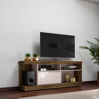 Mesa para TV de Hasta 60 Pulgadas Iguacu Canela/Blanco