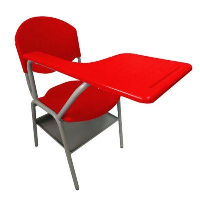 Pupitre Escolar con Porta Libros 40x40x80 Rojo