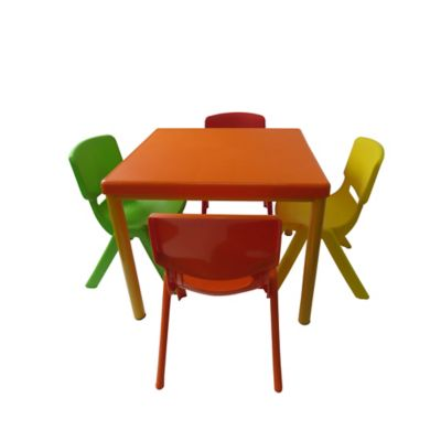Combo Mesa Infantil Andy + 4 Sillas Andy Multicolor
