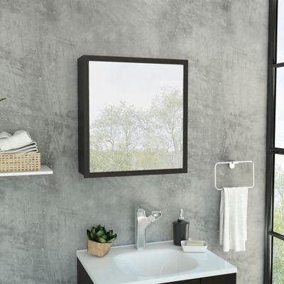 Gabiente con Espejo para Baño Duma 50x53.7x14.4 cm Wengue