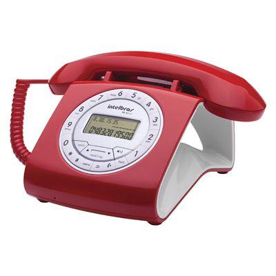 Teléfono Alámbrico Rojo Alta Voz + Caller Id