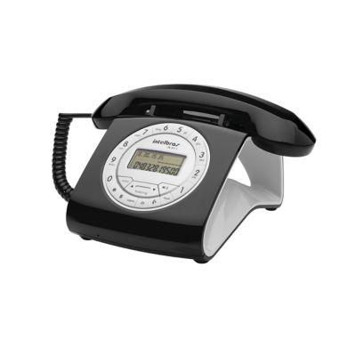 Teléfono Alámbrico Negro Alta Voz + Caller Id