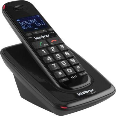 Teléfono Inalámbrico Digital Negro Alta Voz
