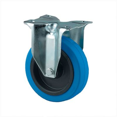 Rueda Industrial Fija Azul Alpha3470 100mm/4 Pulg