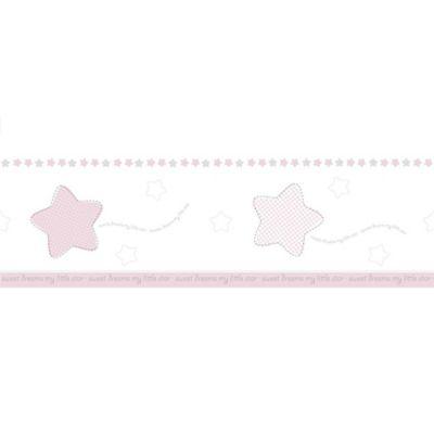 Cenefa Estrellas 5Mt Rosado Gris Lillaby