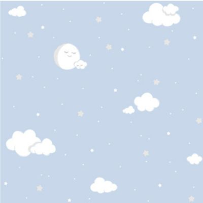 Papel Mural 53 cm x 10 Mt Nubes Azul Lullaby