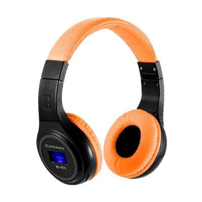 Audífonos Inalámbricos Bluetooth Tf Radio Fm-Naranja
