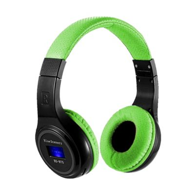 Audífonos Inalámbricos Bluetooth Tf Radio Fm-Verde