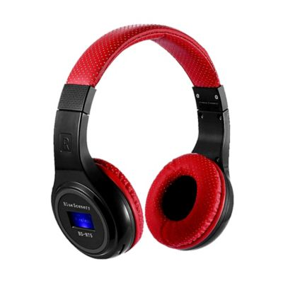 Audífonos Inalámbricos Bluetooth Tf Radio Fm-Rojo