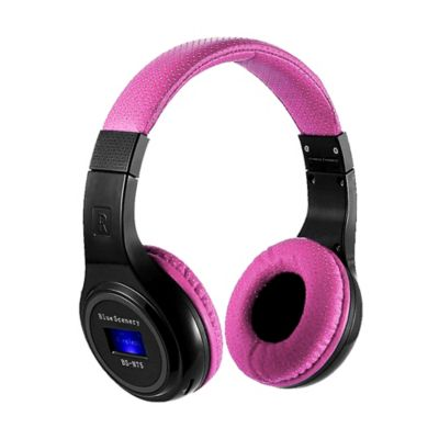 Audífonos Inalámbricos Bluetooth Tf Radio Fm-Rosa
