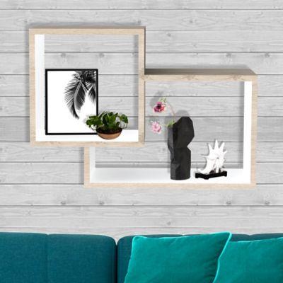 Repisa Click 67.5x19.2x44.5 cm Rovere + Blanco