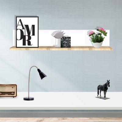 Repisa Top 80x22.4x15 cm Rovere + Blanco