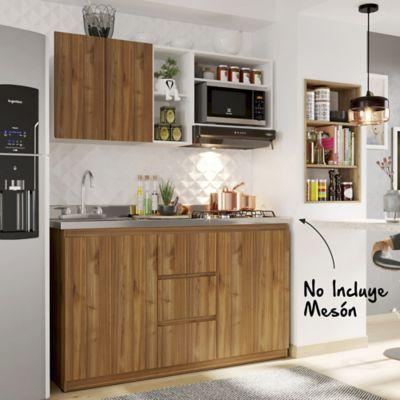 Cocina Integral Lia 1.50 Metros 60-88x150x31.5-60-Gales Blanco