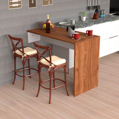 Barra Para Cocina Lia 90x120x60-Gales Blanco