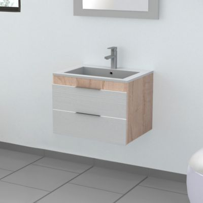 Mueble Lavamanos Flotante Ela 45x62x46-Duna Blanco