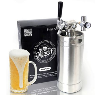 Minibarril Presurizador Cerveza 128Oz Dispensador en Acero