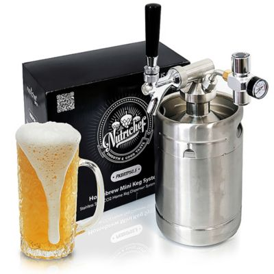 Minibarril Presurizador Cerveza 64Oz Dispensador en Acero