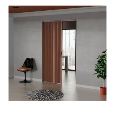 Puerta Plegable Madera Mdp 351-395x240 cm Ap. Izquierda-Espresso