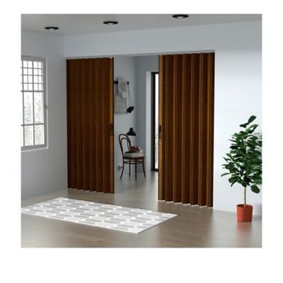 Puerta Plegable Madera Mdp 741-770x240 cm Ap. Central -Caramelo