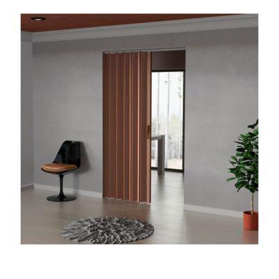 Puerta Plegable Madera Mdp 216-260x240 cm Ap. Izquierda-Espresso